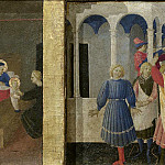 Cortona Altarpiece – Annunciation, predella – Birth of the Virgin, Marriage of the Virgin, Visitation, Fra Angelico