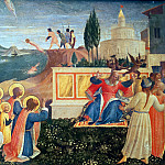 Fra Angelico - San Marco altarpiece, predella - Saint Cosmas and Saint Damian Salvaged