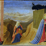 Cortona Altarpiece – Annunciation, predella – Visitation, Fra Angelico