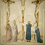 37 Crucifixtion with the saint Dominic and Thomas of Aquinus, Fra Angelico
