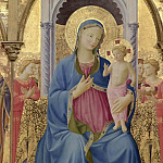 1 Cortona Polyptych, detail – Virgin with Child, Fra Angelico