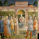 Fra Angelico - Condemnation of St. Lawrence by the Emperor Valerian and Martyrdom of St. Lawrence