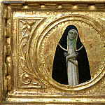 St Peter Martyr Altarpiece, predella – Saints Catherine of Siena and Cecilia, Fra Angelico