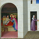 Fra Angelico - San Marco altarpiece, predella - The Healing of Palladia by Saint Cosmas and Saint Damian