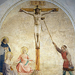 41 Crucifixion with Mary, Mary Magdalene, St Dominic, Fra Angelico