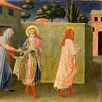 Fra Angelico - Annalena Altarpiece, predella - Saints Cosmas and Damian, Healing of Palladia