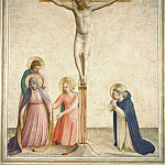 43 Crucifixion with Mary, St John the Evangelist, St Mary Magdalene and St Dominic, Fra Angelico