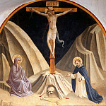 Fra Angelico - 29 Christ on the Cross with St. Mary and Saint Peter the Martyr