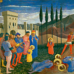 Fra Angelico - San Marco altarpiece, predella - Beheading of Saint Cosmas and Saint Damian