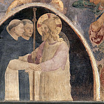 Fra Angelico - Christ as a pilgrim with two Dominican monks