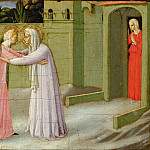 Annunciation, predella – Visitation, Fra Angelico