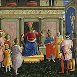 Fra Angelico - San Marco altarpiece, predella - Saint Cosmas and Saint Damian before Lisius
