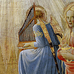 Fra Angelico - Coronation of the Virgin, detail - Angels playing music