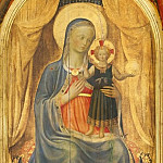 Linaioli Tabernacle, central part – Madonna and Child, Fra Angelico