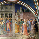 Fra Angelico - St. Peter Consacrates Stephen as Deacon and St. Stephen Distributing Alms