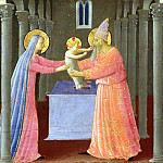 Fra Angelico - Annunciation, predella - Bringing Christ to the Temple