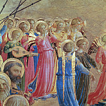 Coronation of the Virgin, detail – Angels playing music, Fra Angelico