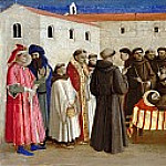 Compagnia di San Francesco Altarpiece, predella – The funeral Mass for St. Francis, Fra Angelico
