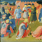 Linaioli Tabernacle, predella – Adoration of the Magi, Fra Angelico