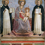 Virgin and Child with Sts Dominic and Thomas Aquinas, Fra Angelico
