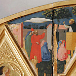 St Peter Martyr Altarpiece, detail – The sermon of St. Peter Martyr, Fra Angelico