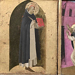 Fra Angelico - 4 Cortona Polyptych, predella - St Peter Martyr, Innocent III dream