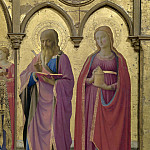 Fra Angelico - 3 Cortona Polyptych, detail - Sts Matthew and Mary Magdalen