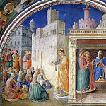 Fra Angelico - The Sermon of St. Stephen and Dispute before Sanhedrin
