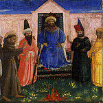 Compagnia di San Francesco Altarpiece, predella – Trial by Fire, Fra Angelico