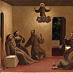 Compagnia di San Francesco Altarpiece, predella – The appearance of St. Francis in Arles, Fra Angelico
