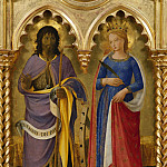 Perugia Altarpiece – St John the Baptist and St Chatherine of Alexandria, Fra Angelico