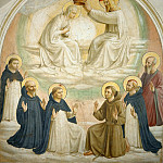 09 The coronation of Mary, Saints Thomas of Aquin, Benedict, Dominic, Francis of Assisi, Peter the Martyr and Mark, Fra Angelico