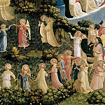 The Last Judgement, detail – The dance of the beatified