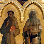 Fra Angelico - Compagnia di San Francesco Altarpiece - St Francis of Assisi and Onuphrius