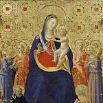 Madonna and Child Enthroned with Nine Angels and Saints Dominic and Catherine of Alexandria