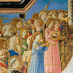Coronation of the Virgin, detail, Fra Angelico