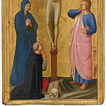 Christ on the Cross, the Virgin, John the Evangelist and Cardinal Torquemada, Fra Angelico