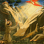 Giovanni Bellini - Compagnia di San Francesco Altarpiece, predella - Saint Francis Receives the Stigmata