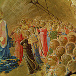 Coronation of the Virgin, detail – Angels and saints, Fra Angelico