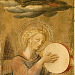 Linaioli Tabernacle – Angel making music, Fra Angelico