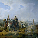 Carl Blechen - The Battle of Abensberg on April 20, 1809
