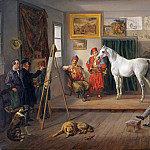 Theodor Leopold Weller - The artists studio in Munich