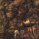 Saint George in the Forest, 1510, parchment on lim, Albrecht Altdorfer