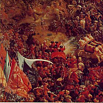 Altdorfer The battle of Issus, 1528-29, Detalj 1, Alte Pinak, Albrecht Altdorfer