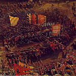 The battle of Issus, 1528-29, Detalj 2, Alte Pinak, Albrecht Altdorfer