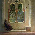 Johann Peter Hasenclever - Hallway of the cloister