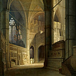 Carl Spitzweg - Interior of Westminster Abbey