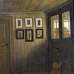The Girl at the Door. Interior of the Artist's home, Älvängen