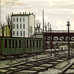 Bernard Buffet - The Railroad Track