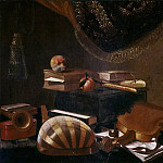 Mattia Preti - Still Life with Musical Instruments